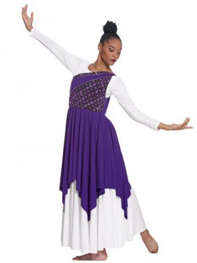 50e898cad19e7 Praise Dancewear · Eurotard Adult Divine Royalty Asymmetrical Praise Tunic